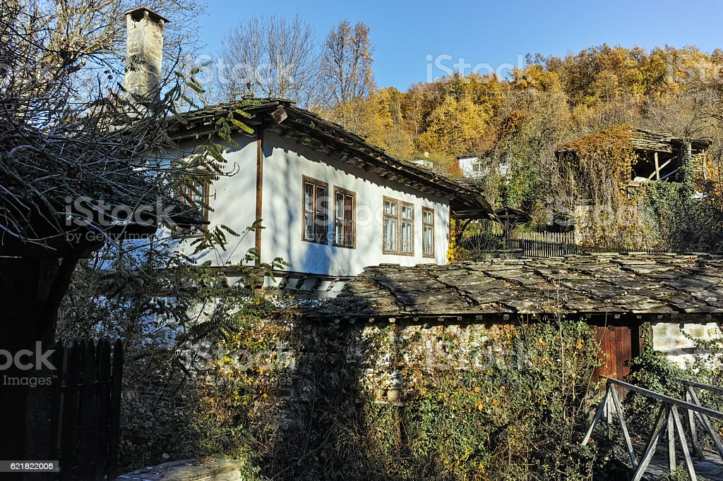 Architectural and historical reserve of village of Bozhentsi, Bulgaria stock photo