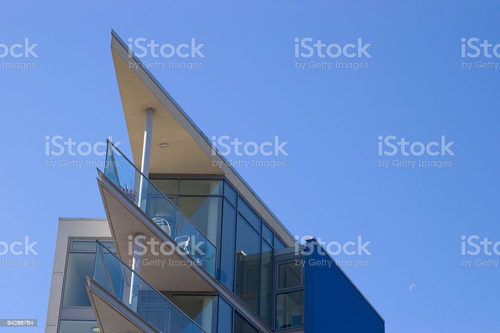 Architectural apartment building royalty-free stock photo
