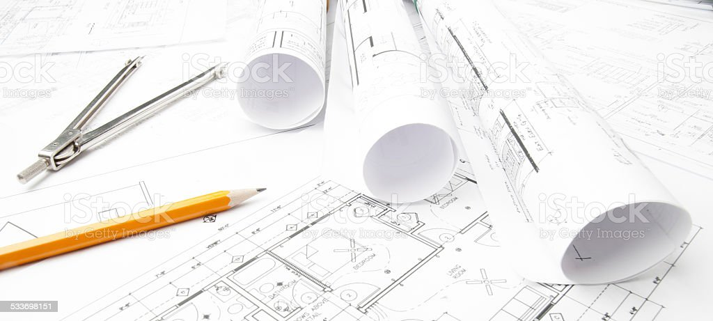 Architecture Drawing Instruments architectural blueprints and blueprint rolls with drawing