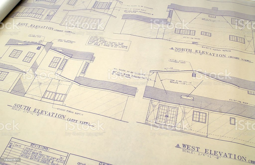 Architectural Blueprints. royalty-free stock photo