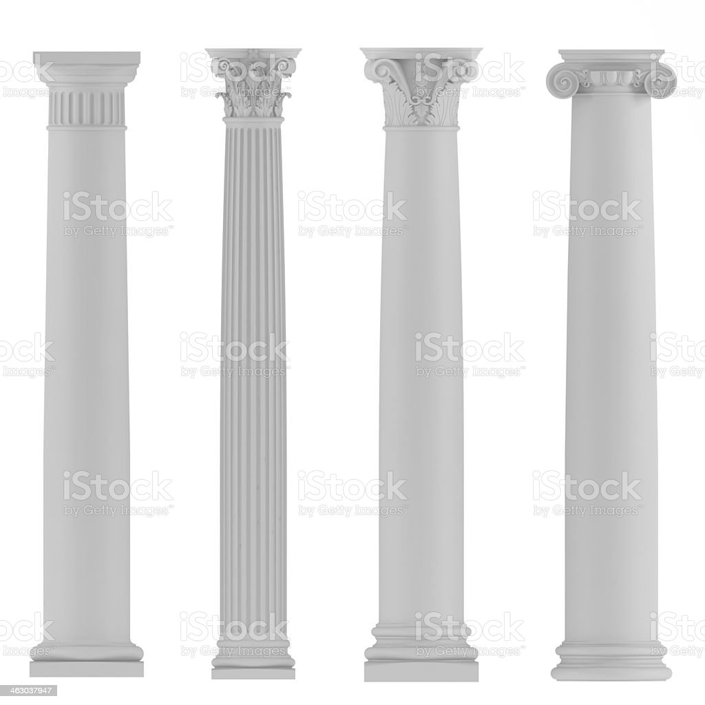 Architectural classic columns stock photo