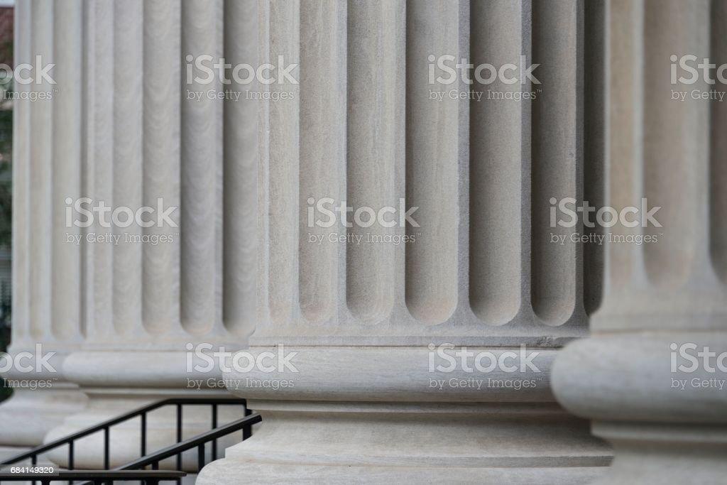 Architectural Columns, Charleston, South Carolina stock photo