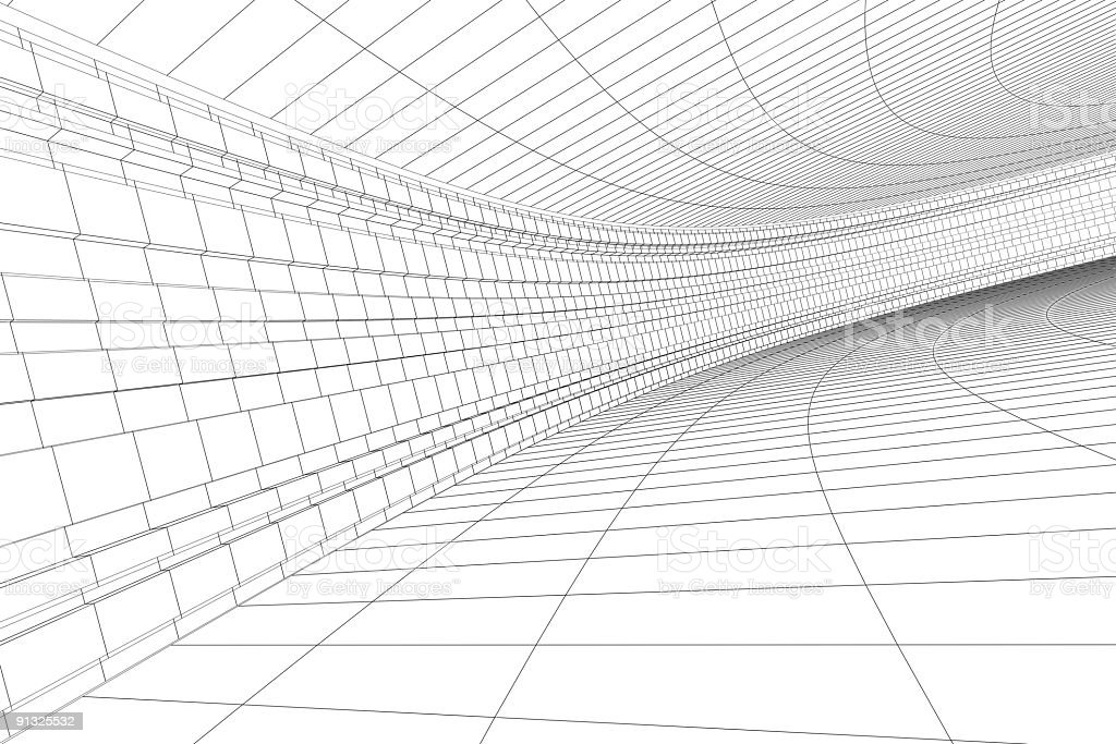 3D architectural construction stock photo