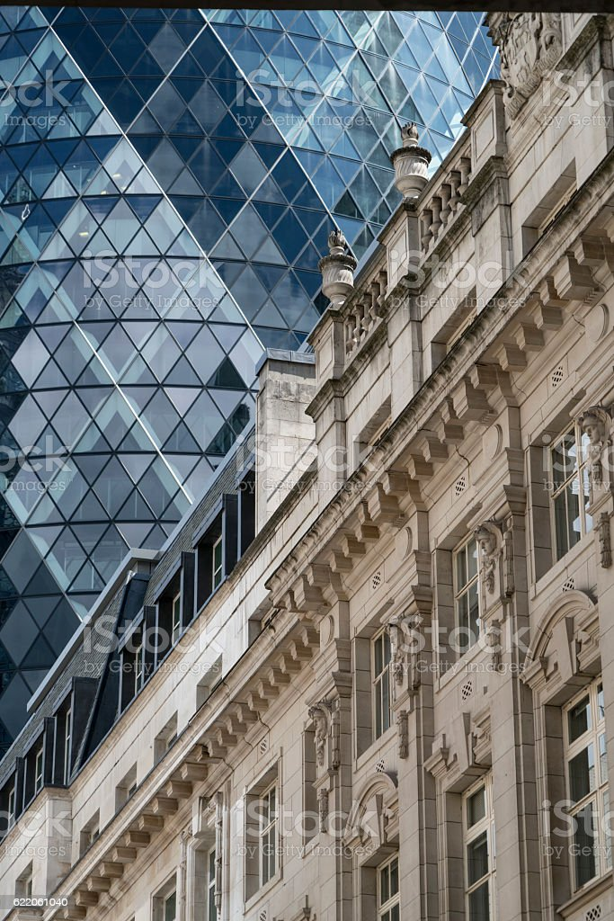 Architectural Contrast London stock photo