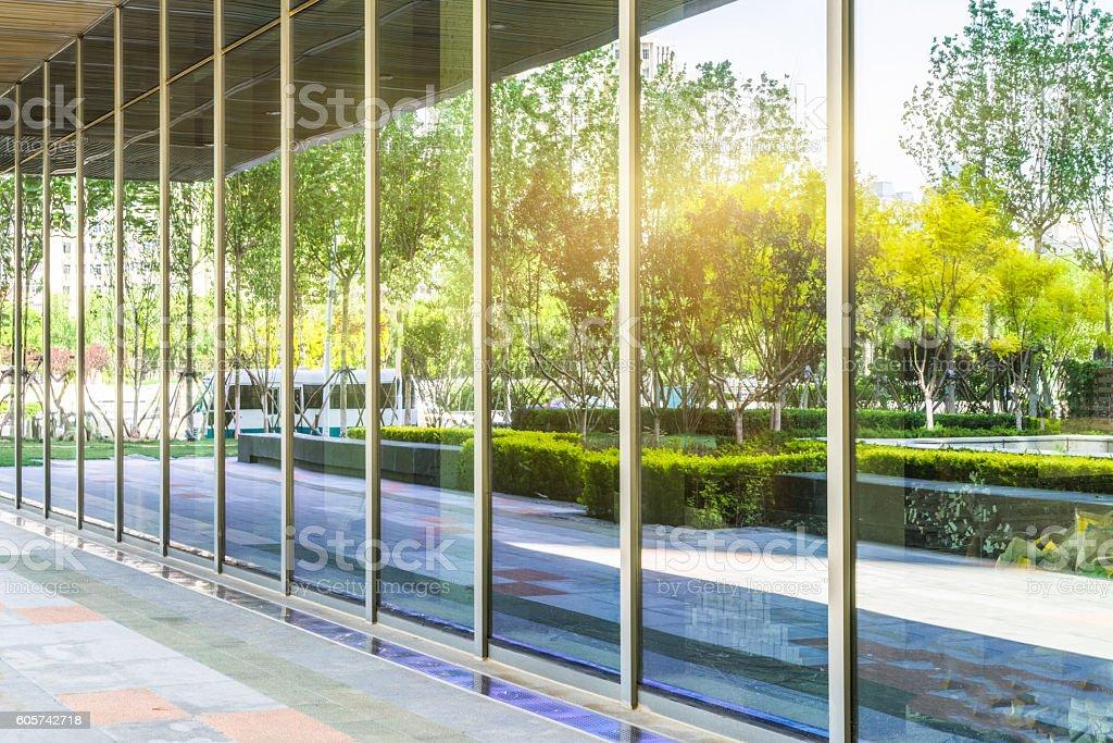 architectural corridor stock photo