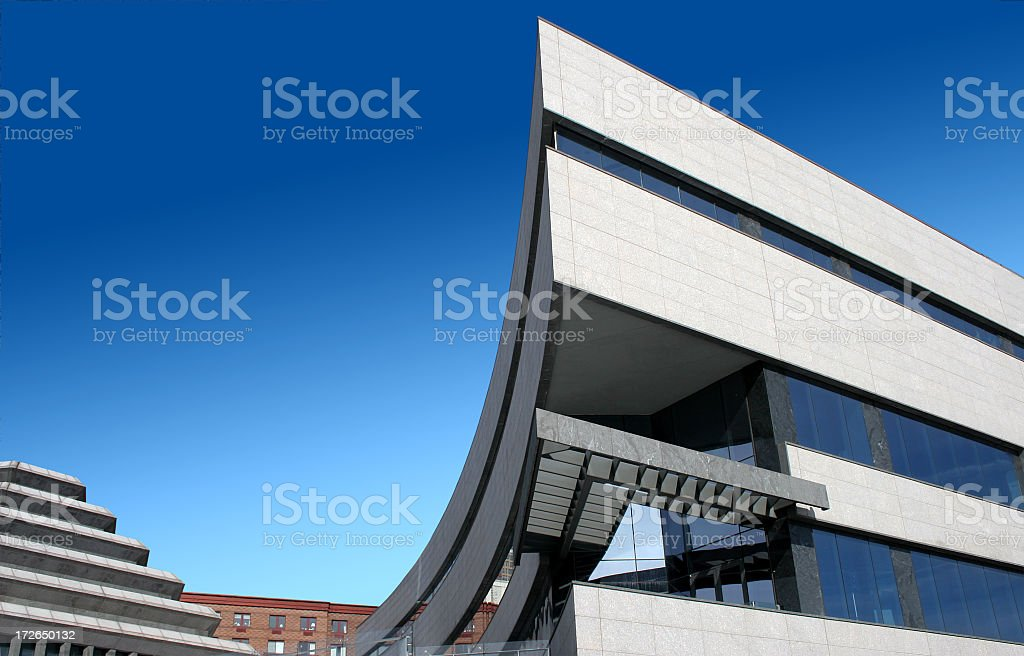 architectural curves and angles stock photo