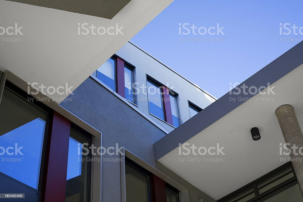 Architectural detail at dusk royalty-free stock photo
