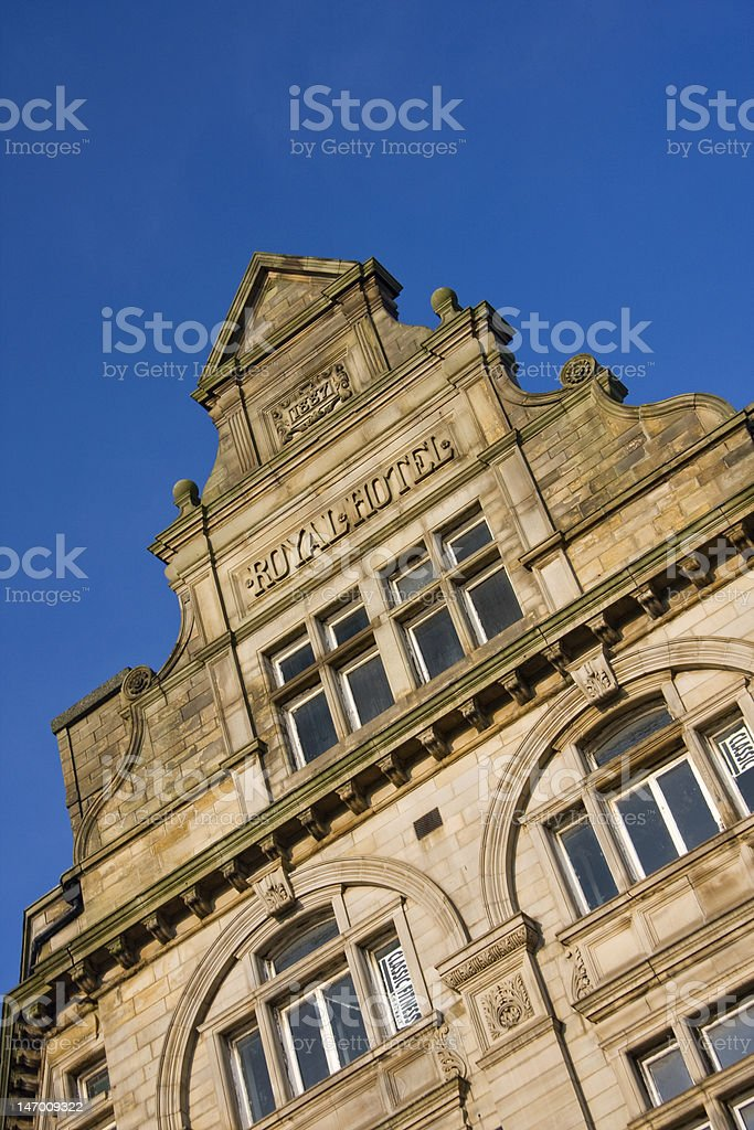 Architectural detail, Bradford City Centre, West Yorkshire stock photo