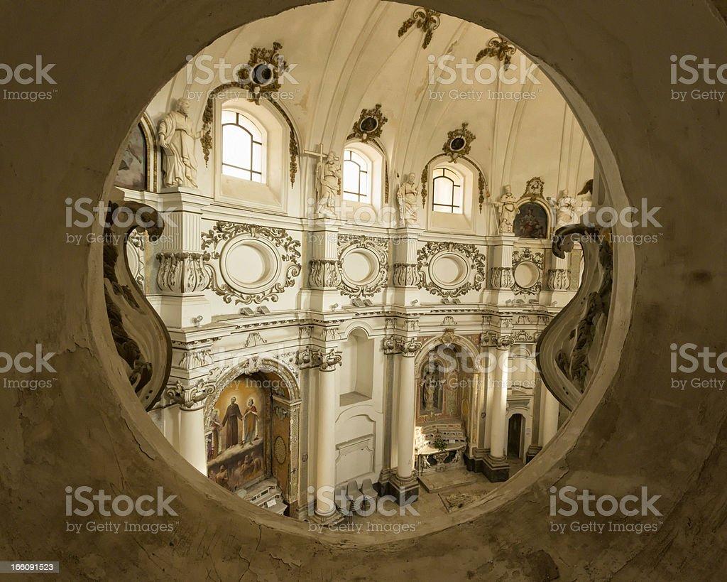 Architectural detail: Chiesa di Santa Chiara, Noto Sicily, Italy stock photo