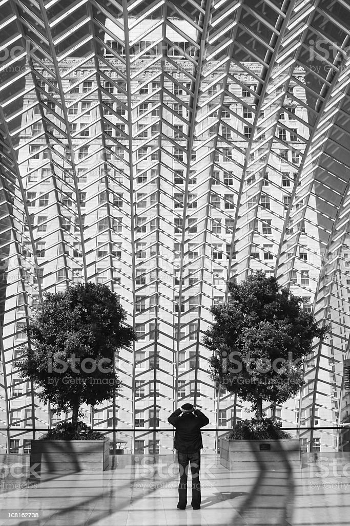 Architectural detail - glass roof of Kimmel Center in Philadelphia royalty-free stock photo