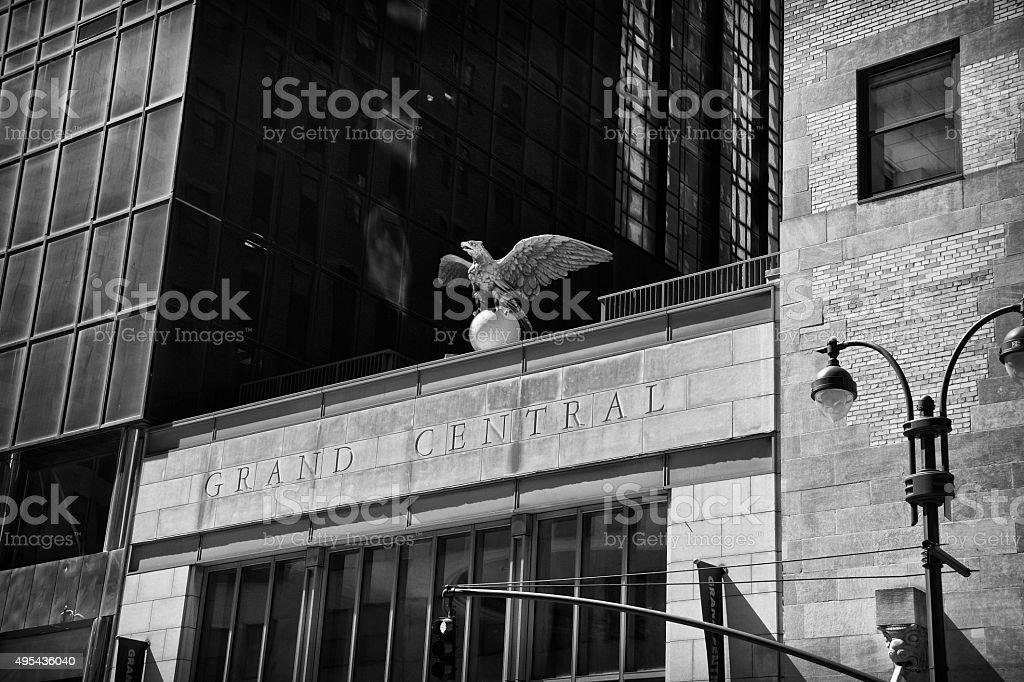 NYC Architectural detail, Grand Central Terminal Eagle, Midtown Manhattan stock photo