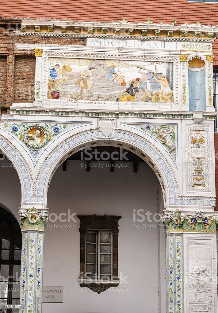Architectural detail in Napoli, Italy royalty-free stock photo