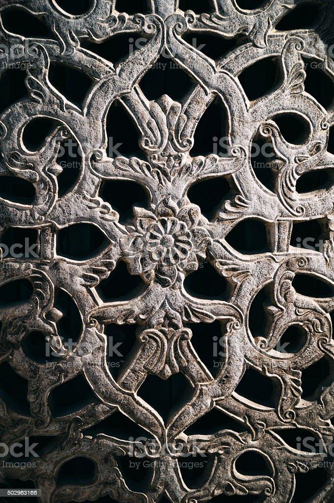 Architectural Detail in Narenjestan Palace, Shiraz, Iran stock photo