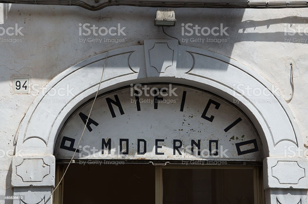 Architectural detail in Noto, Sicily stock photo