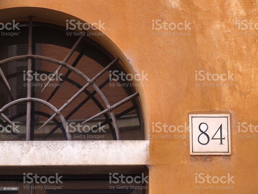 Architectural detail in Rome city royalty-free stock photo