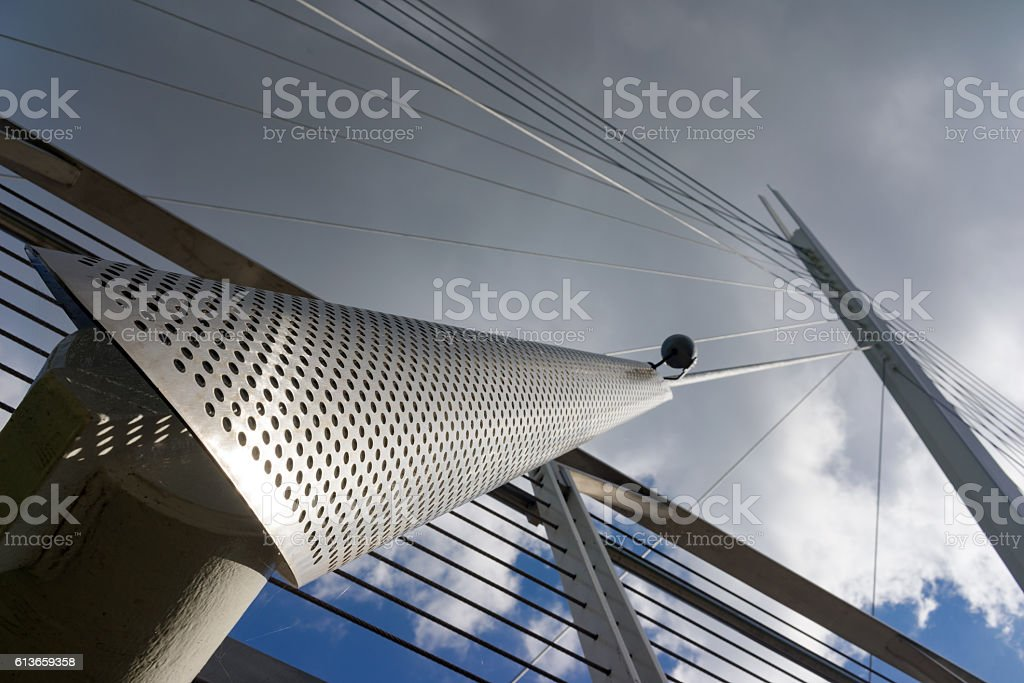 Architectural detail in the Christchurch Bridge, Reading (UK) stock photo