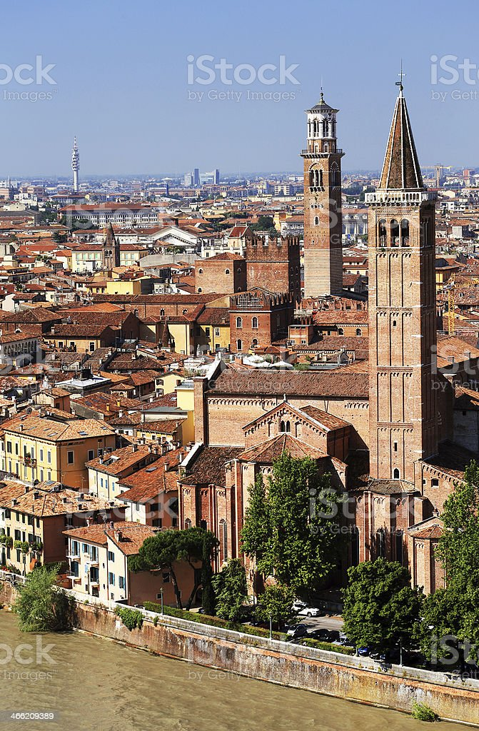 Architectural detail in Verona stock photo