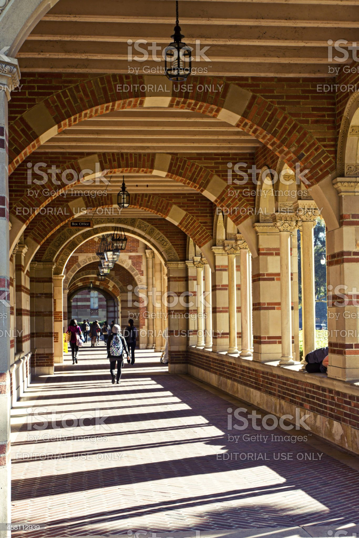 Architectural Detail Indicating University Environment royalty-free stock photo