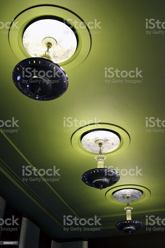 Architectural Detail - Light Fixture 3 royalty-free stock photo