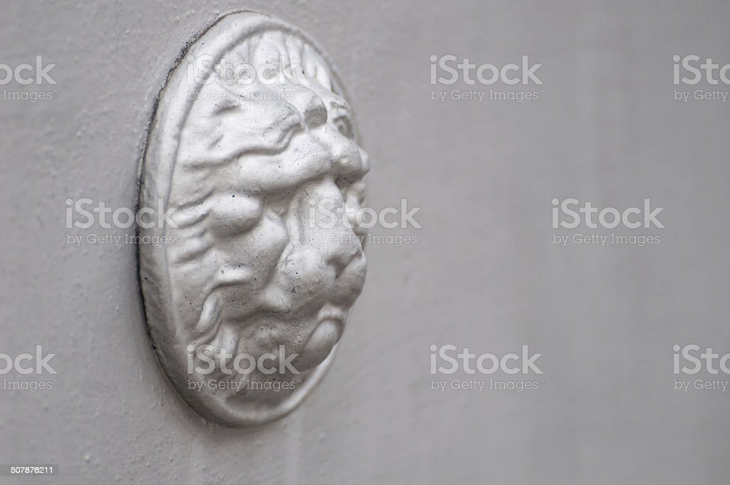 architectural detail, lion head royalty-free stock photo