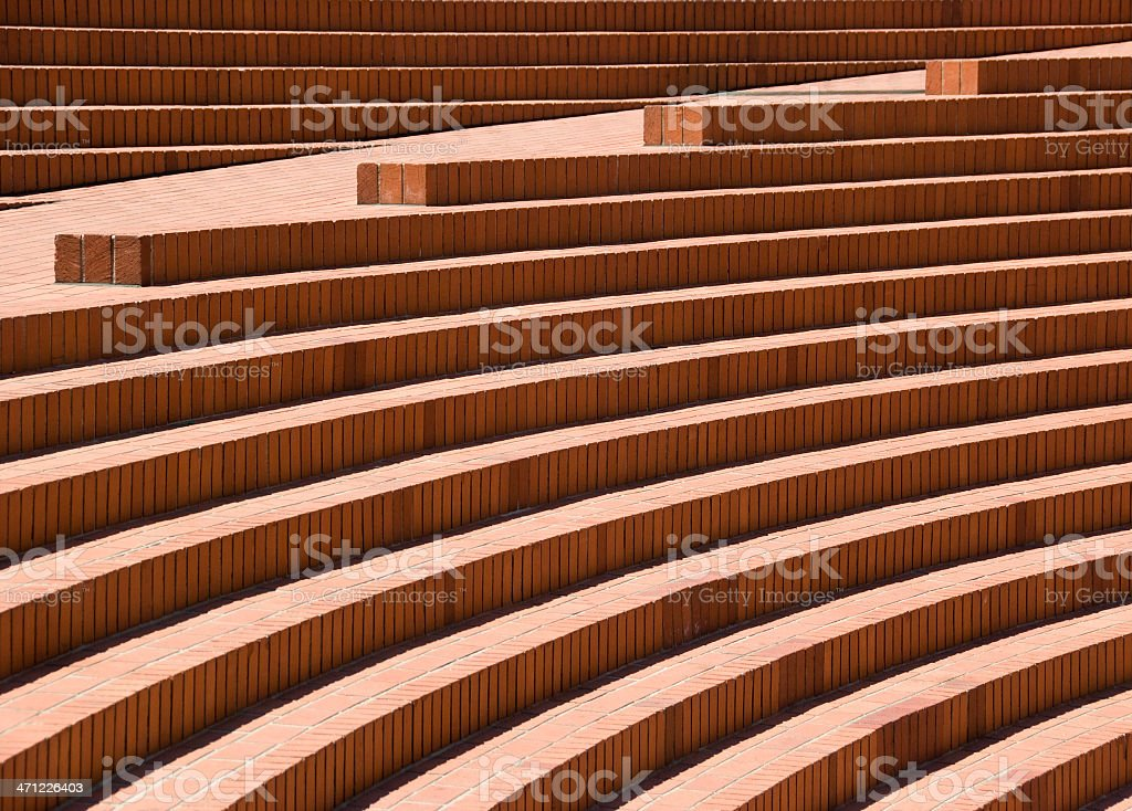 Architectural Detail, Modern Plaza Steps and Seating royalty-free stock photo