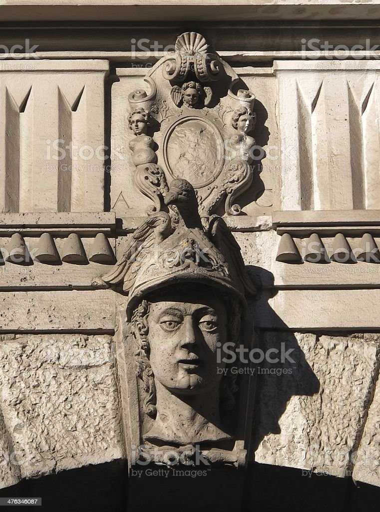 Architectural detail of a facade royalty-free stock photo
