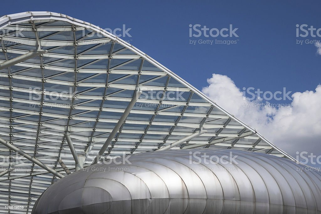 Architectural detail of a modern building royalty-free stock photo