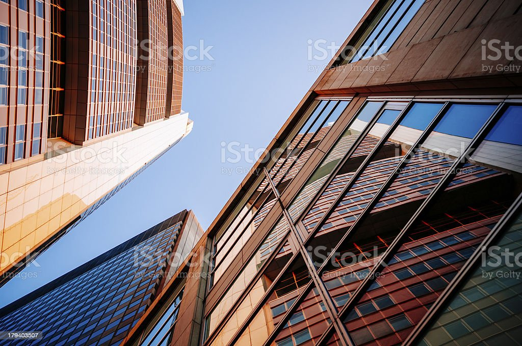 Architectural detail of an office building royalty-free stock photo