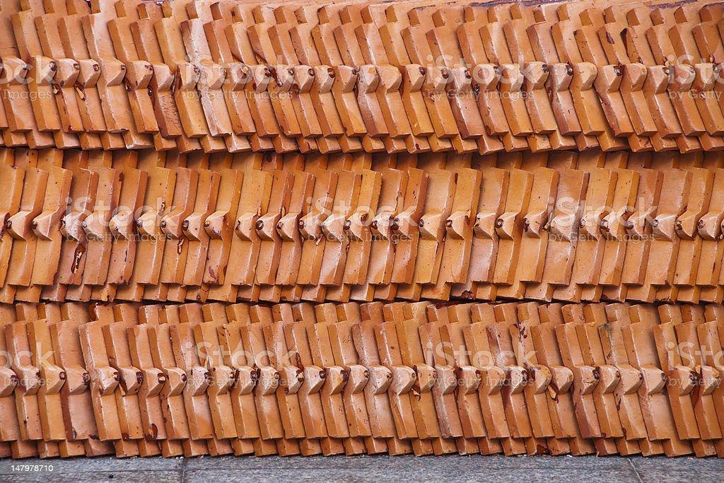 Architektoniczne szczegóły mnich Temple Dachówki zbiór zdjęć royalty-free