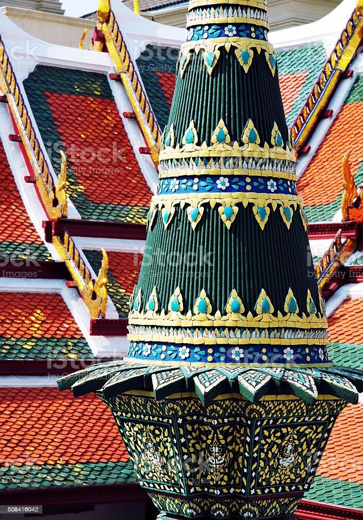 Architectural detail of Grand Palace in Bangkok,Thailand stock photo