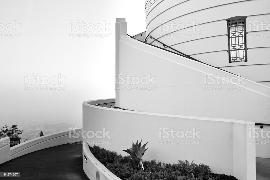 Architectural Detail of Griffith Observatory, Los Angeles, Calif royalty-free stock photo
