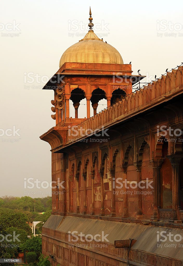Architectural detail of Jama Masjid stock photo