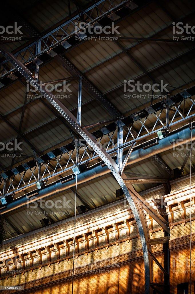 Architectural Detail of Madrid Atocha Rail Station royalty-free stock photo