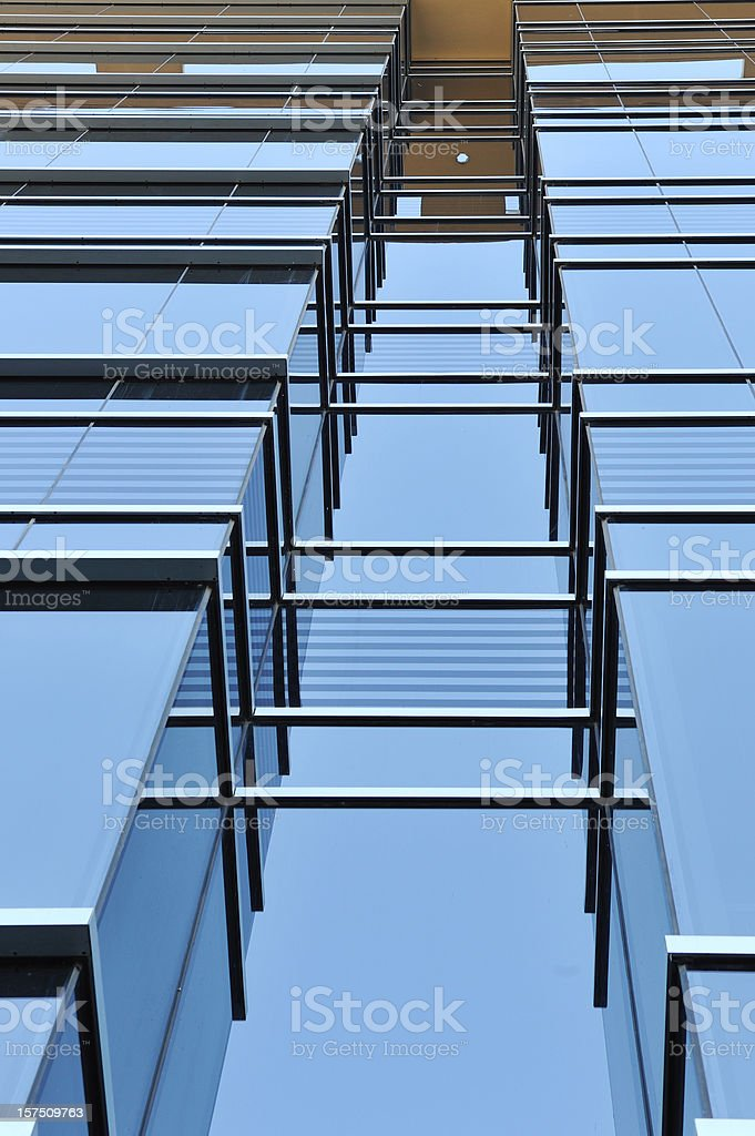 Architectural detail of office building royalty-free stock photo