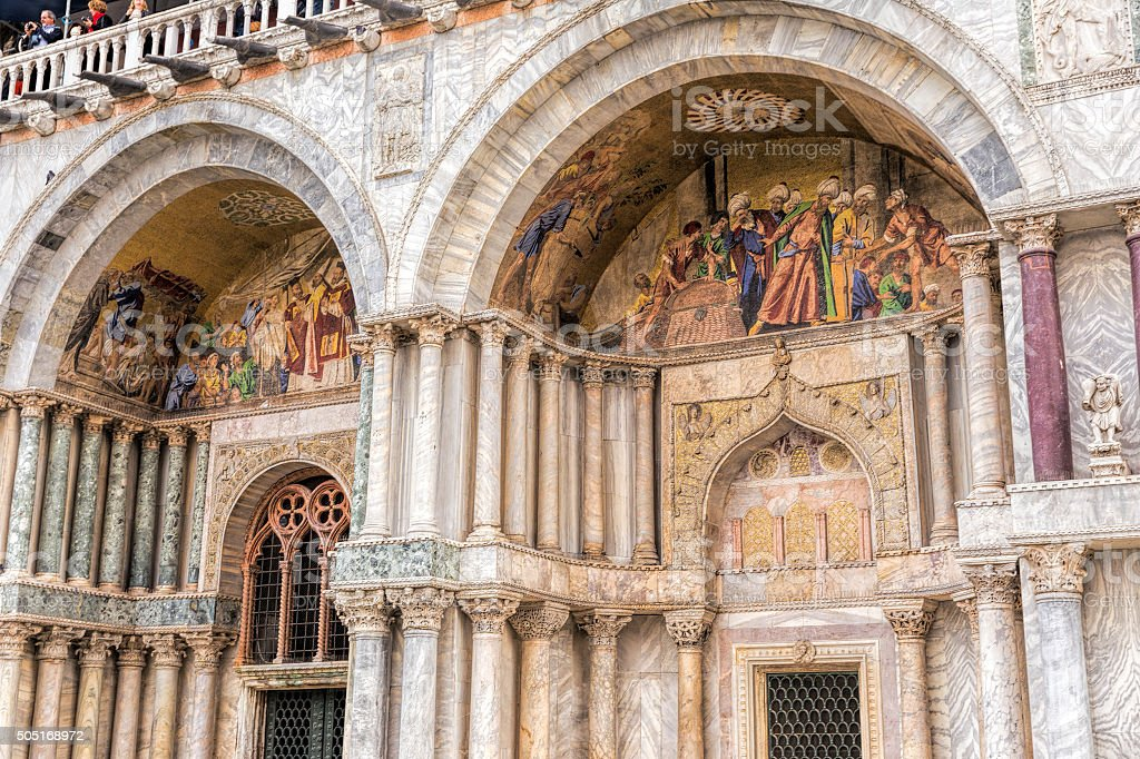 Architectural detail of the Doge's Palace stock photo