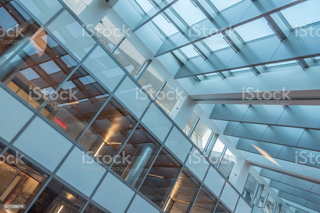 Architectural detail of the interior of LA airport stock photo