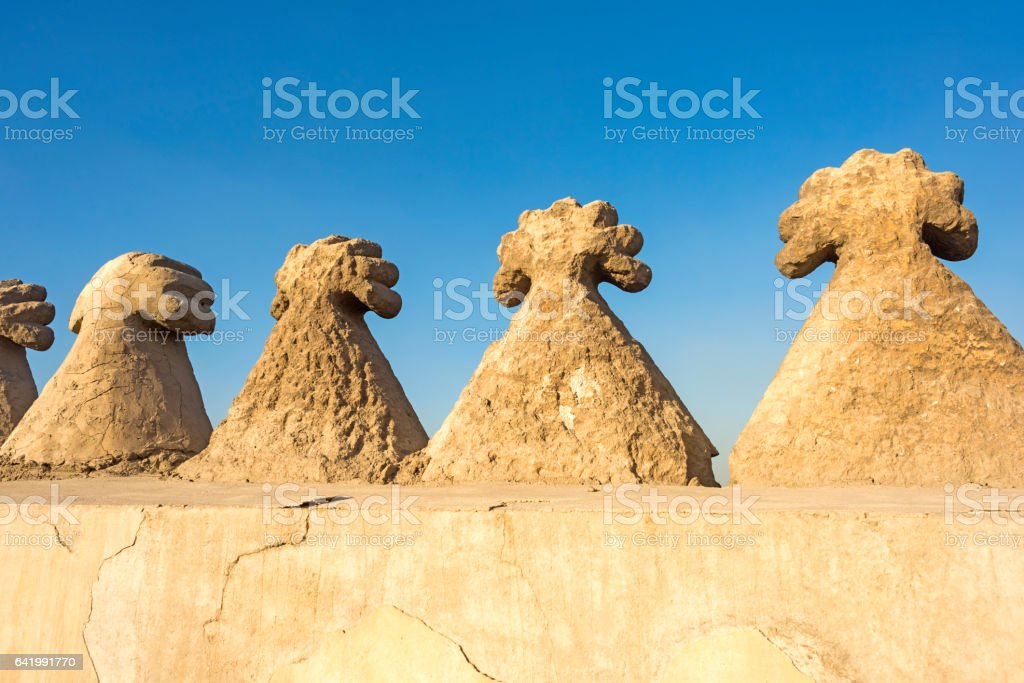 Architectural Detail of the Mosques in Cairo stock photo