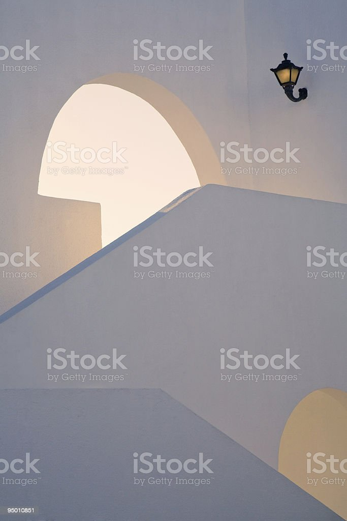 architectural detail of the stairway royalty-free stock photo