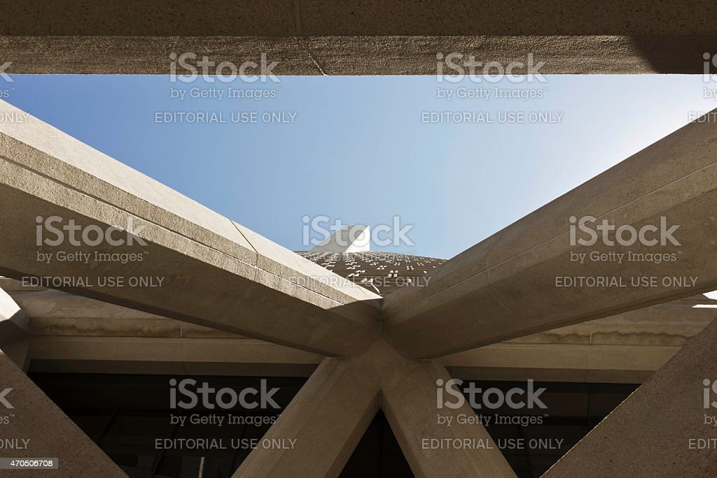 Architectural detail of The Transamerica Pyramid stock photo