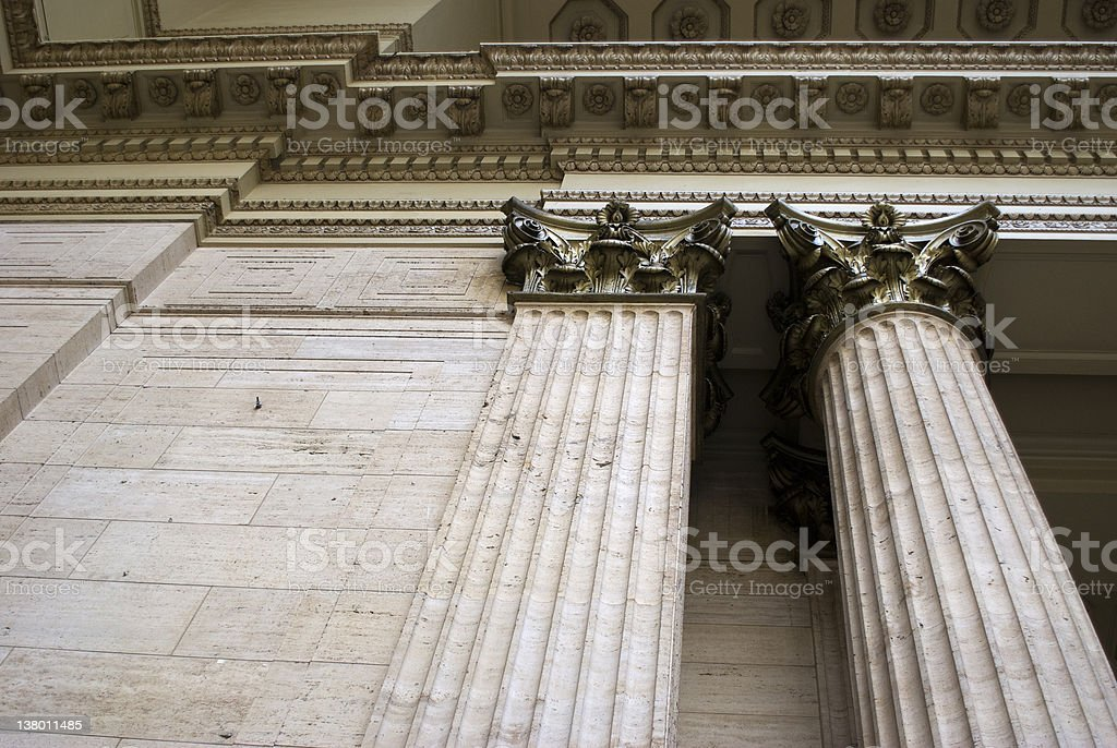 Architectural Detail of Union Station in Chicago royalty-free stock photo