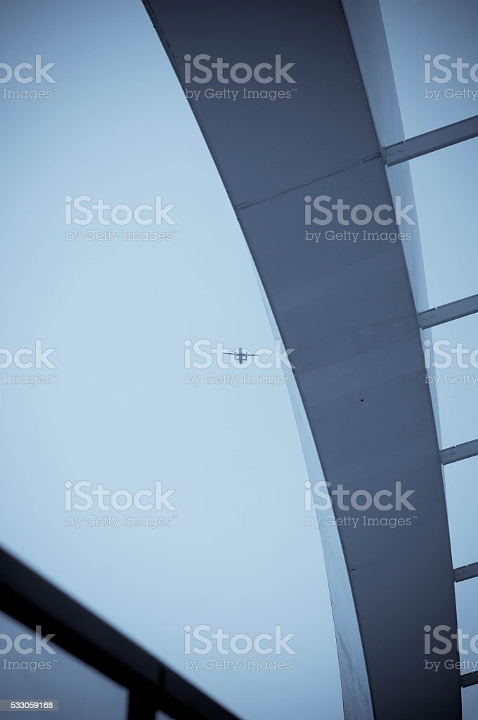 Architectural detail on a  building in London stock photo