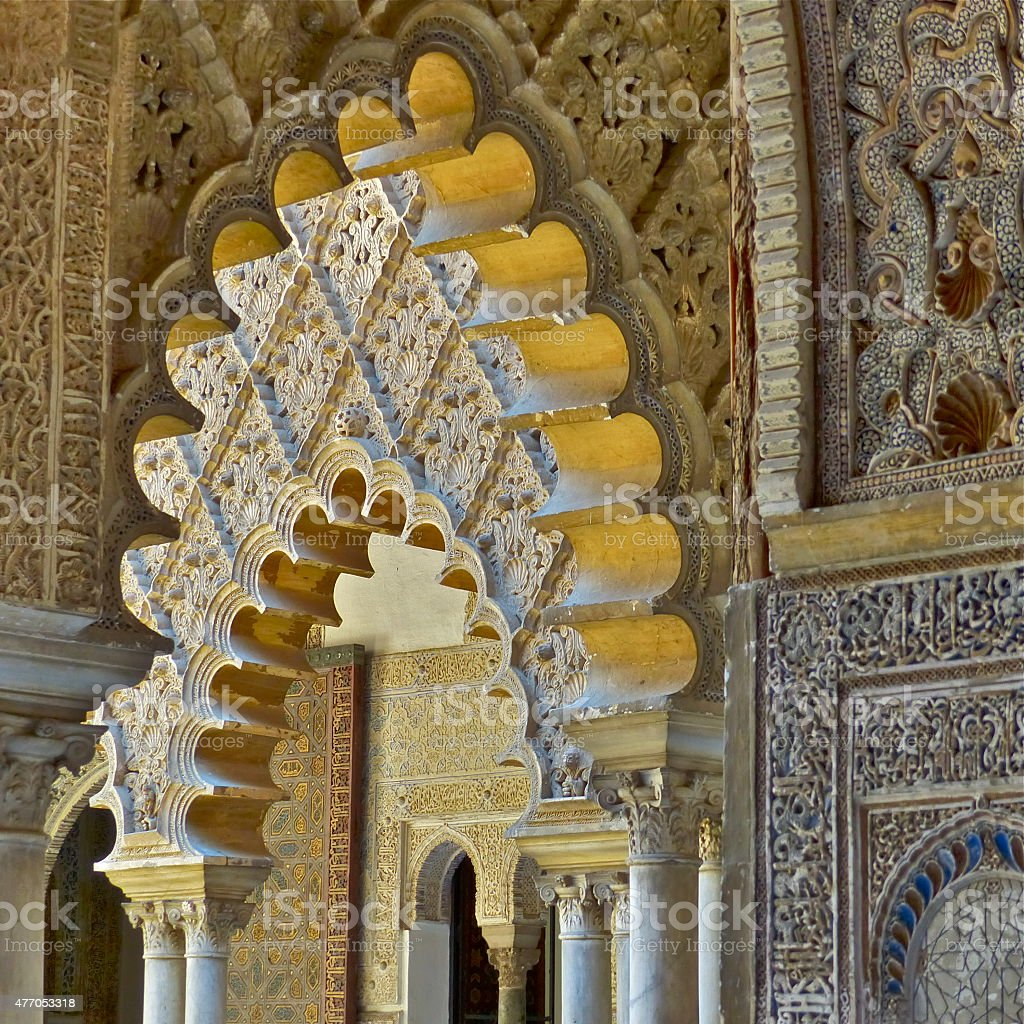 D?tail architectural Real Alcazar stock photo
