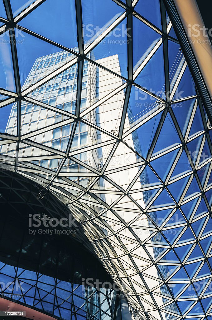 Architectural detail with glass elements royalty-free stock photo