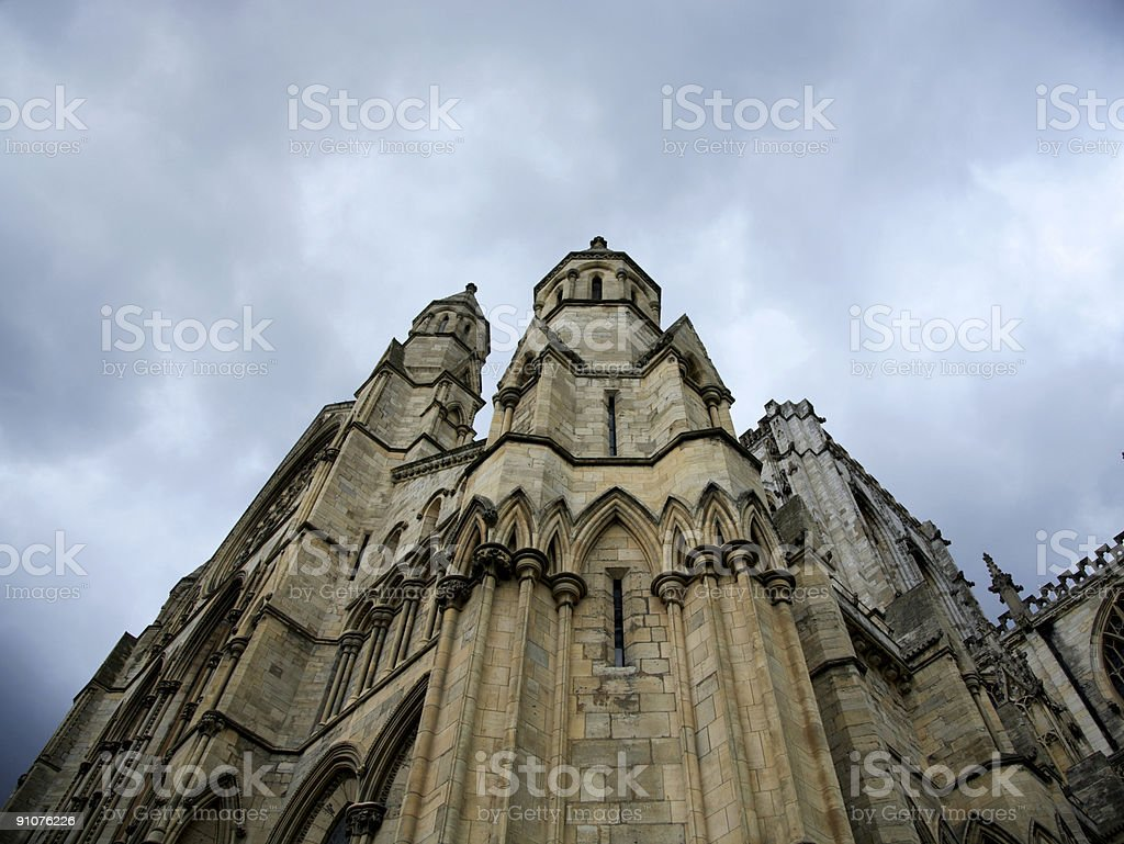 Architectural detail York Minster royalty-free stock photo