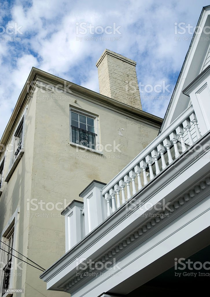 Architectural Detailing in Old Charleston royalty-free stock photo