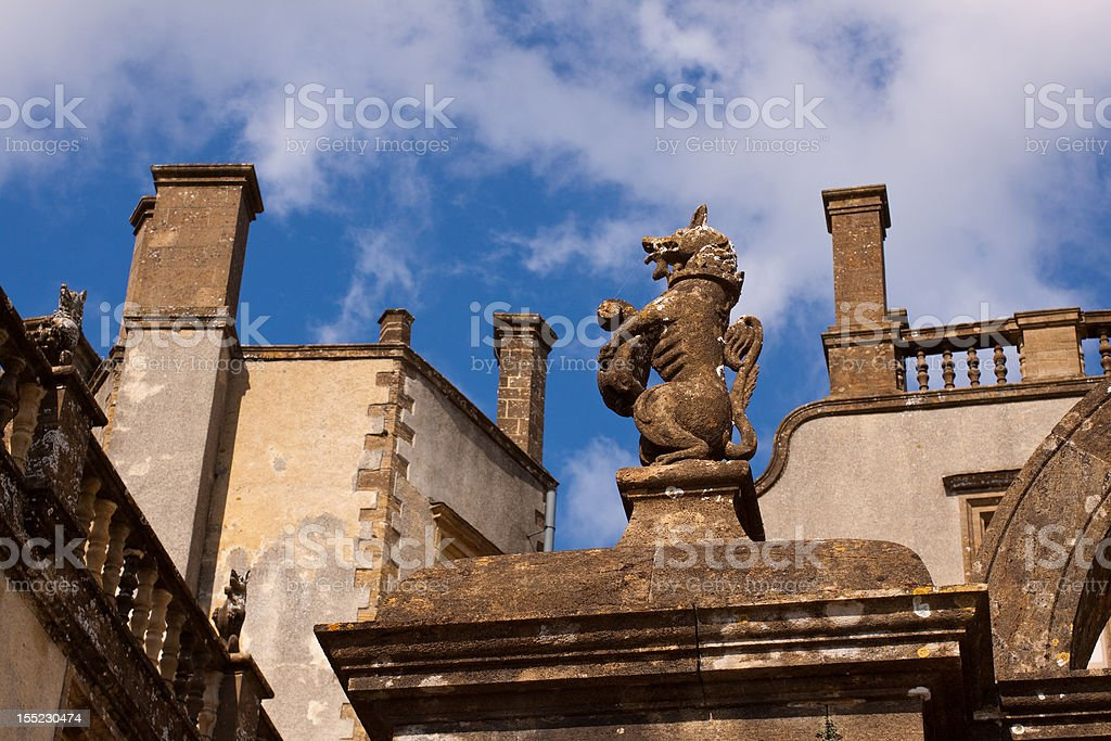 Architectural details against a Blue Sky stock photo