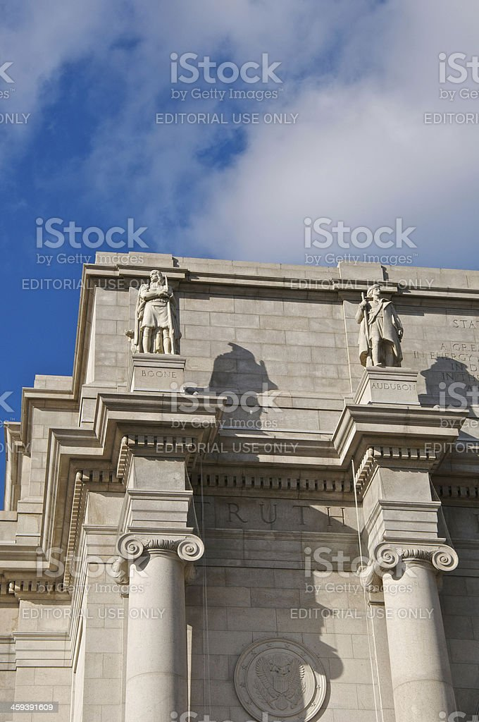 Architectural details, American Musuem of Natural History, New York City royalty-free stock photo