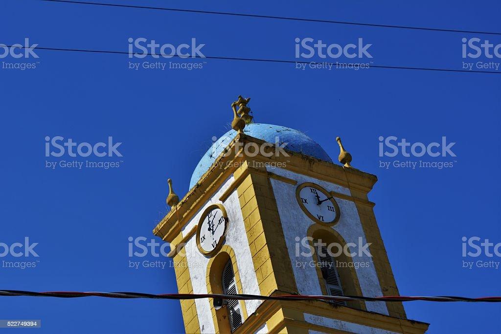 Architectural details church Nossa Senhora da Graça stock photo