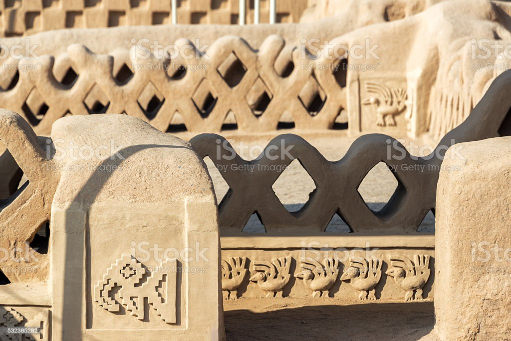 Architectural Details in Chan Chan stock photo