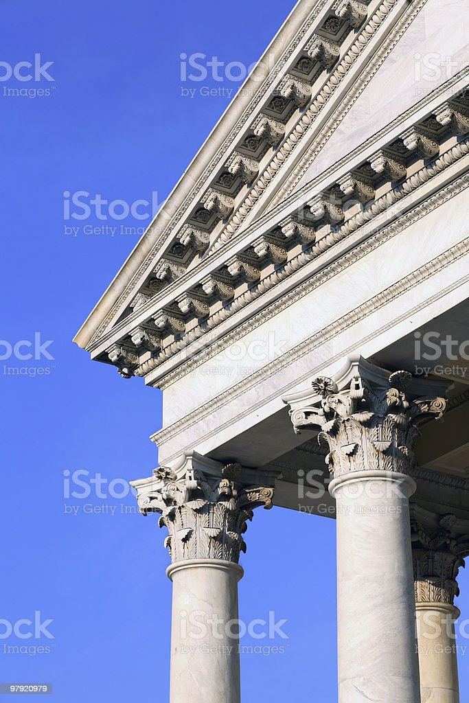 Architectural details: Neoclassical columns royalty-free stock photo
